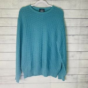 Vintage Woolrich Knit Dad Sweater Teal Size Large